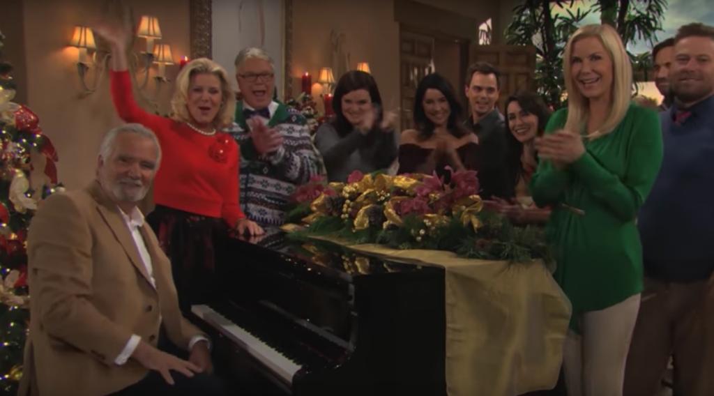Les Acteurs D Amour Gloire Et Beaute Chantent Le Generique En Francais Pour Noel