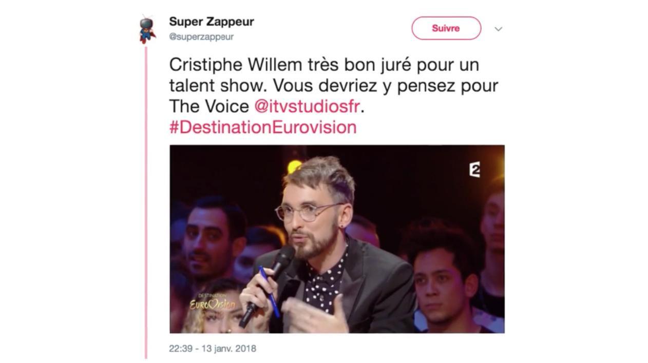 """""""Pointu"""", sincère, """"objectif"""" : Christophe Willem assure en juré dans Destination Eurovision"""